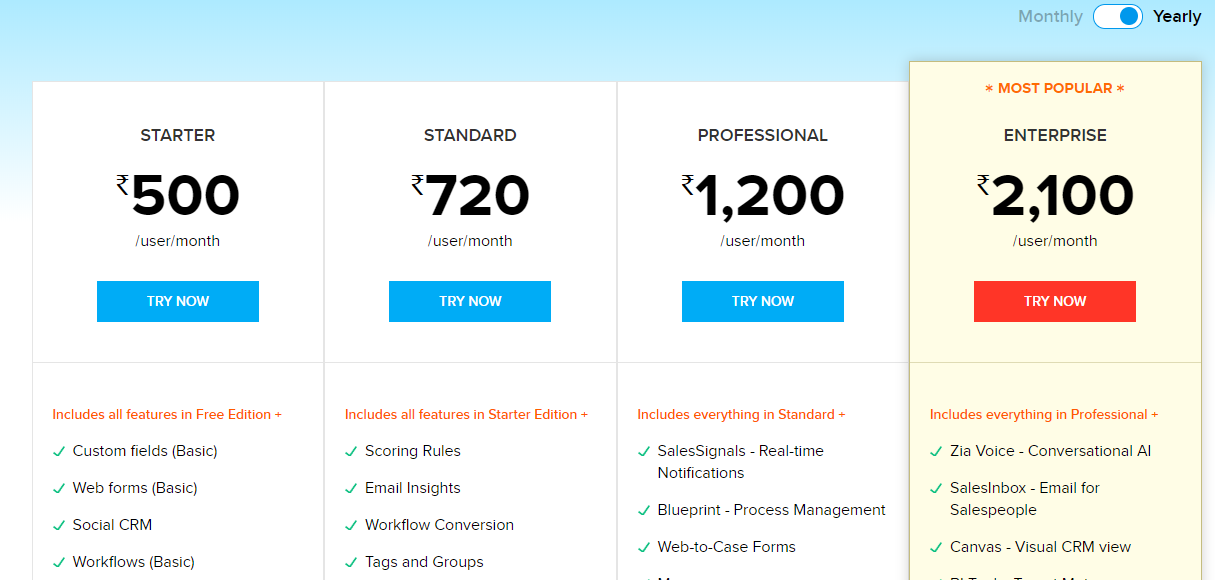 Fixed plan applying to a wide user base - an example of SaaS pricing